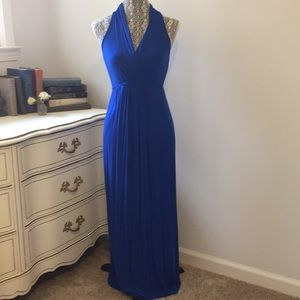 Royal Blue Maternity Maxi Dress